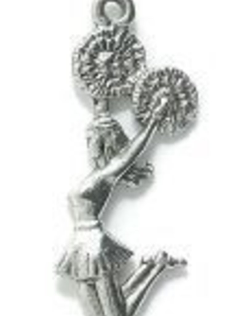 1 PC ASP 28x11mm Cheerleader Charm