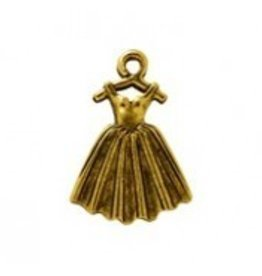 1 PC AGP 22x16mm Ballet Dress Charm
