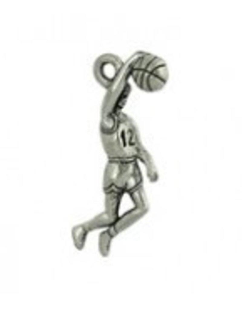 1 PC ASP 26x11mm Basketball Player Charm