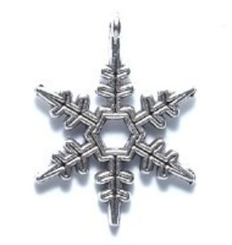 1 PC ASP 24x18mm Snowflake Charm
