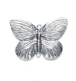 1 PC ASP 44x31mm Butterfly Charm 2 Loop