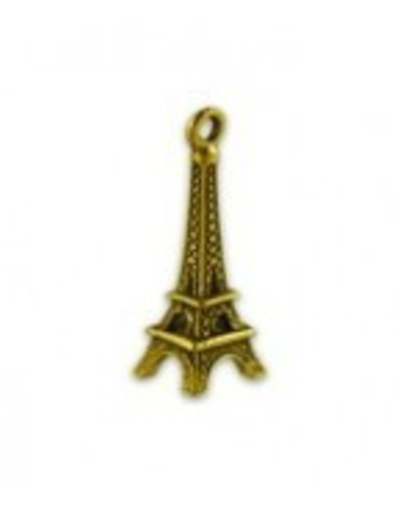 1 PC AGP 24x10mm Eiffel Tower Charm