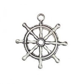 1 PC ASP 28x22mm Ship Wheel Charm