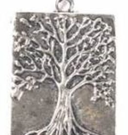 1 PC ASP 32x22mm Tree of Life Rectangle Charm