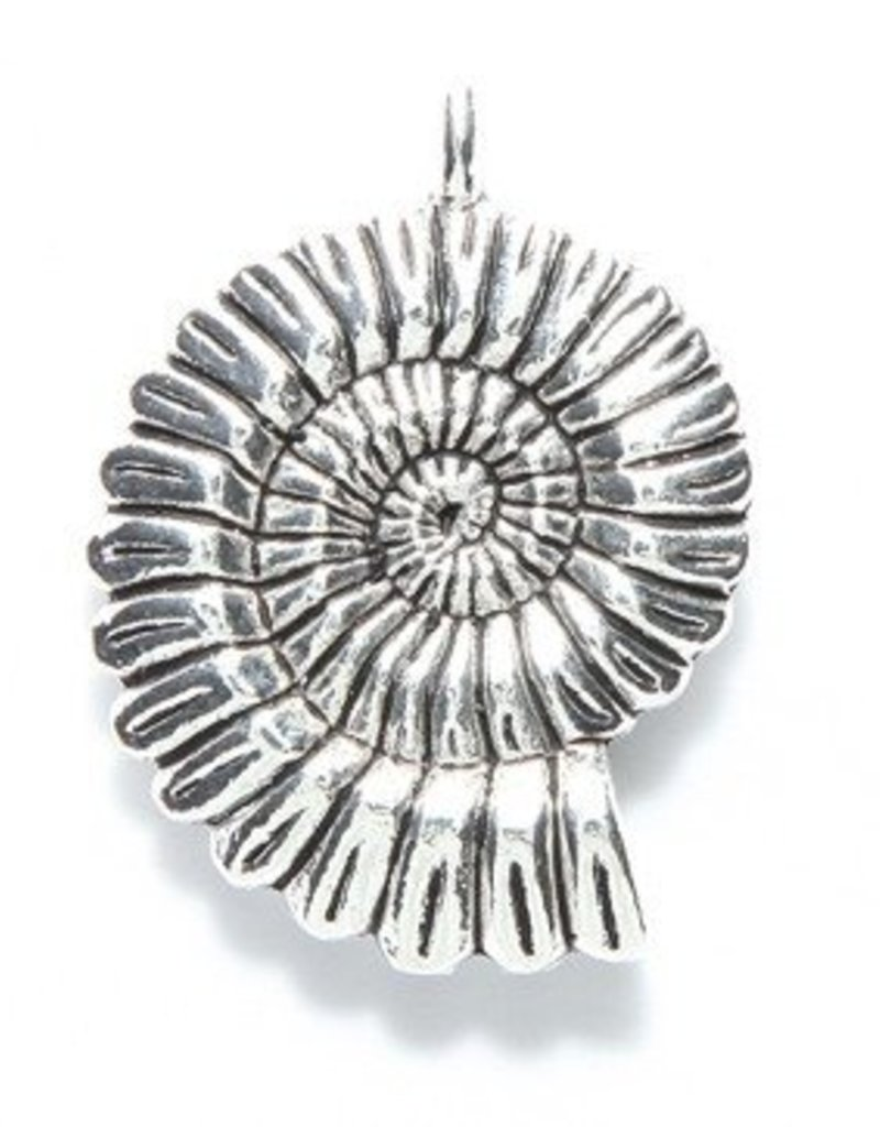 1 PC ASP 31x27mm Coiled Shell Pendant