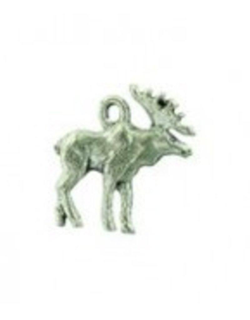 1 PC ASP 19x17mm 3D Moose Charm