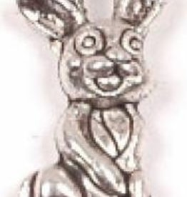 1 PC ASP 18x10mm Bunny Rabbit Charm