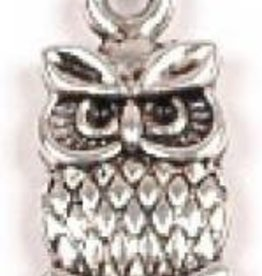 2 PC ASP 15x8mm Tiny Owl Charm