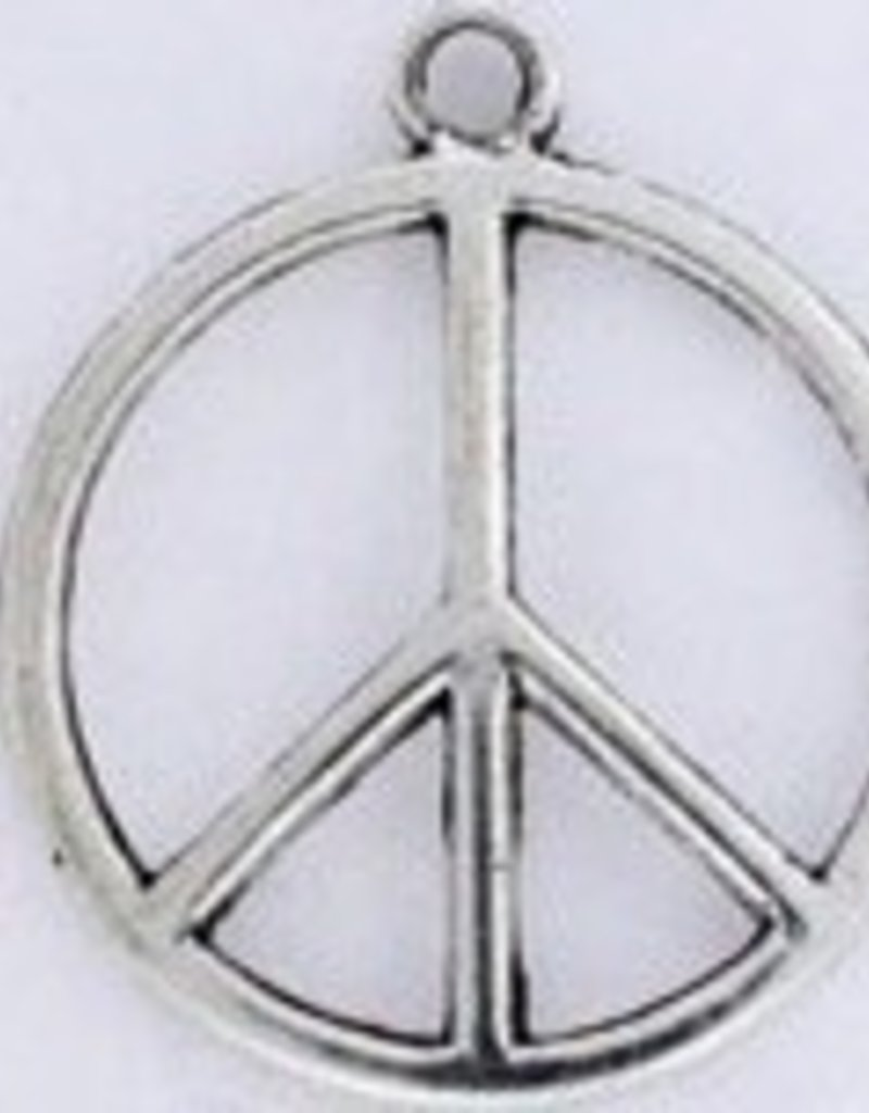 1 PC ASP 28x24mm Peace Sign Charm