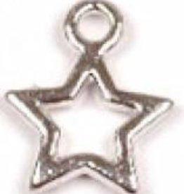 4 PC ASP 13x10mm Tiny Star Charm