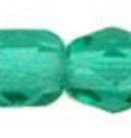 50 PC Firepolish 3mm : Emerald