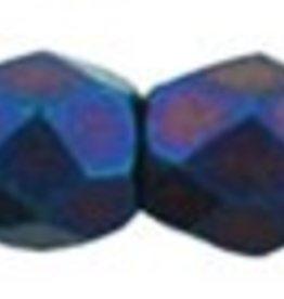 50 PC Firepolish 3mm : Matte Iris Blue