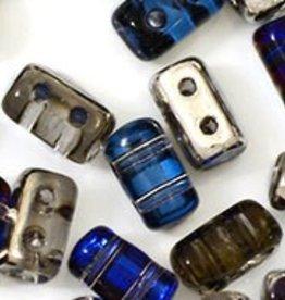 10 GM Rulla 3x5mm : Silver Blue/Crystal