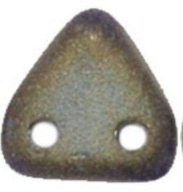 10 GM 6mm 2 Hole Triangle : Matte Iris Brown