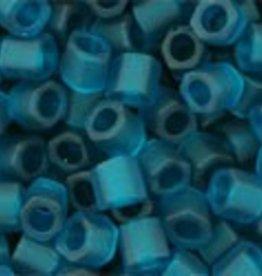 10 GM Toho 8/0 Hex : Transparent-Matte Blue Zircon