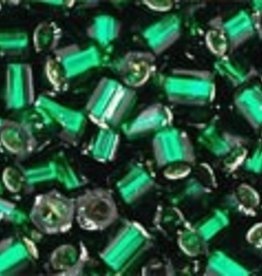 10 GM Toho 8/0 Hex : Silverlined Emerald Green