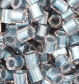 10 GM Toho 8/0 Hex : Inside-Color Crystal/Metallic Blue-Lined