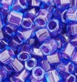 10 GM Toho 8/0 Hex : Inside-Color Dk Aqua/Violet-Lined