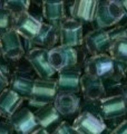10 GM Toho 8/0 Hex : Inside-Color Crystal/Teal-Lined