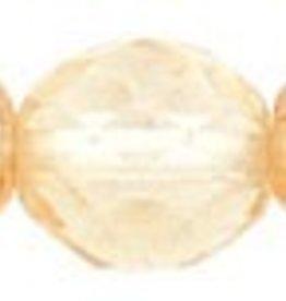 25 PC Firepolish 10mm : Luster - Transparent Champagne