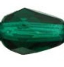 25 PC Firepolish 7x5mm Teardrop : Emerald