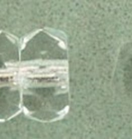 50 PC Firepolish 6x3mm Rondell : Crystal