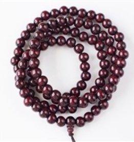 "36"" 10mm Lotus Wood Beads with 8x15mm Guru Bead"