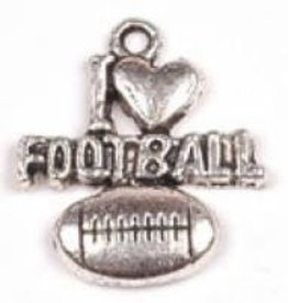 "1 PC ASP 20x18mm ""I Love Football"" Charm"