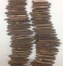 """Titanium Quartz Lg Stick : Bronze 15.5"""" Strand"""