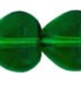 50 PC 6mm Heart : Green Emerald