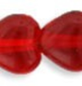 50 PC 6mm Heart : Siam Ruby