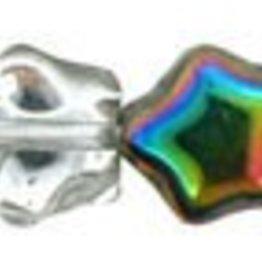 50 PC 6mm Star : Crystal Vitrail