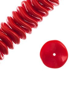 36 PC 12mm Ripple : Opaque Red