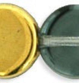 25 PC 8x3mm Dime : Gold Half Coat