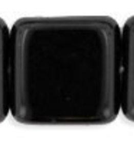 25 PC 9mm Flat Square : Jet