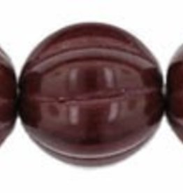 25 PC 8mm Melon : Opaque Cocoa Brown