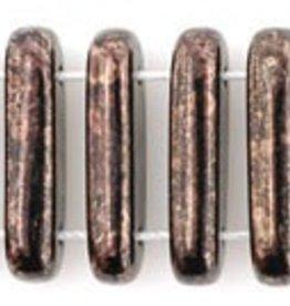 50 PC 15x5mm 2 Hole Bar : Jet Dark Bronze