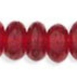 100 PC 4mm Rondell : Ruby