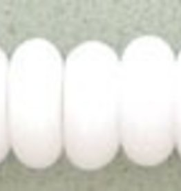 100 PC 4mm Rondell : Opaque White