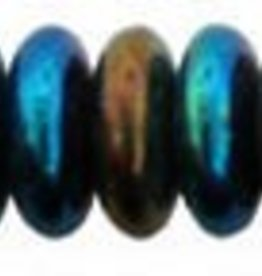 50 PC 6mm Rondell : Blue Iris