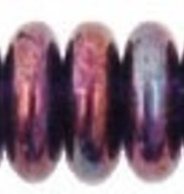 50 PC 6mm Rondell : Transparent Amethyst Luster