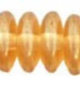 50 PC 6mm Rondell : Transparent Champagne Luster