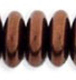 50 PC 6mm Rondell : Dark Bronze