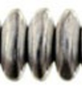 50 PC 6mm Rondell : Silver