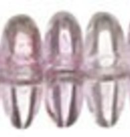50 PC 6mm Rondell : Transparent Topaz/Pink Luster