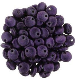 50 PC 6mm Lentil : Chrome Purple