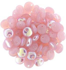 50 PC 6mm Lentil : Milky Pink AB