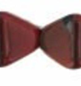 50 PC 6mm Bicone : Red Black Swirl