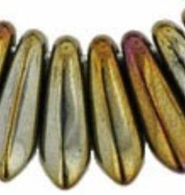 50 PC 3x10mm Dagger : Brown Iris