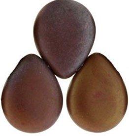 25 PC 12x16mm Pear Drops : Matte Opaque Red Bronze Vega